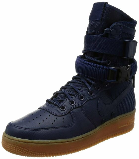 Nike SF Air Force 1 Men's 10 Sfaf1 Winterized Black Olive BOOTS Lightly Nr