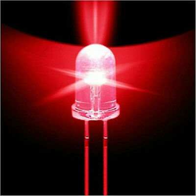 1000PCS 5mm Red Round High Power Super Bright Water Clear LED Leds Lamp Bulb