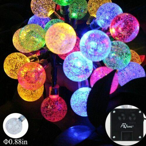 20-50 LED Solar Lichterkette Kugeln Außen Garten Party Licht Deko Weihnachten DE