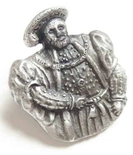 Henry VIII Handcrafted From English Pewter Lapel Pin Badge Gift Bag