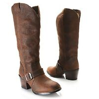Durango Womens Philly Turn Down Boots Brown / Denim Size 6.5 8.5 9.5 $210