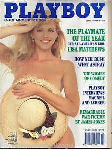details about playboy june 1991 lisa matthews cover saskia linssen playmate  + more