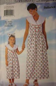 Butterick 4688 Sewing Pattern Mother /& Daughter Dress