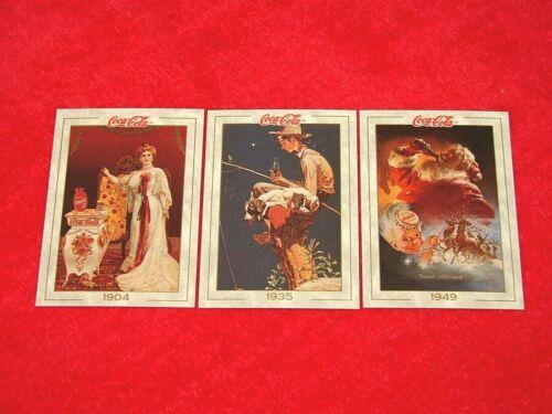 NS-140 1993 COCA-COLA SERIES 1 PROMO CARD  SET 1-3
