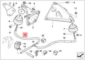 Genuine Bmw E46 Convertible Engine Suspension Vacuum Hose Oem 22116772852 Ebay