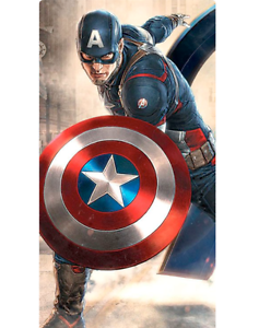 Marvel AVENGERS Captain America Shield Metal Spinner Focus ADHD Anxiety Autism