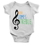 Here Comes Treble Babygrow Funny Music Guitar Drummer Body Suit Gift Present