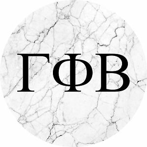 086a29f3 Gamma Phi Beta Black and White Marble with Letters Sticker Decal | eBay