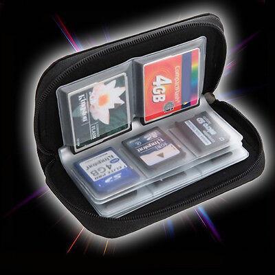 1x Tasche Etui Schutz Hülle Für 22 Speicherkarten SDHC MMC CF Micro SD XD Karte