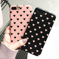 Pink 3D Print Cute Heart Rabbit Silicone Shockproof Case Cover for iPhone 7 Plus