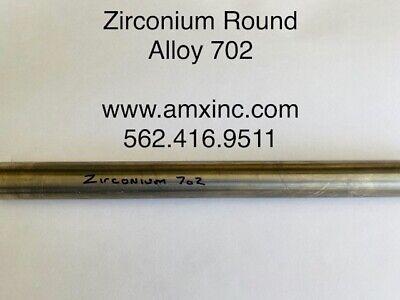 "ZIRCONIUM ROUND BAR ALLOY 702  .250/"" DIA X 36/"" LONG"