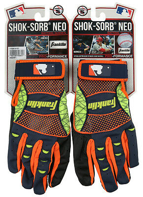Franklin Shok-Sorb NEO Adult Baseball / Softball Batting Gloves - S, M, L, XL