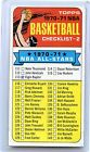 1970-71 TOPPS BASKETBALL #101 CHECKLIST #2, CREASED & MARKED, 070616