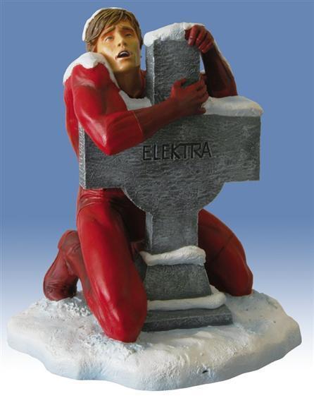 Marvel Milestone Daredevil on cross statue