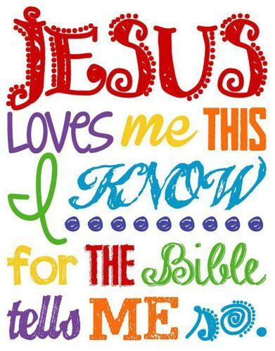 Light /& Dark Fabrics #6 Jesus Loves Me This I Know Iron On Transfer-T-Shirt