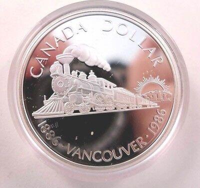 1986 Canada First Trans Canada Train Proof Dollar