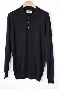Pringle Herren Wolle Kragen Pullover Größe M ARZ266