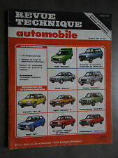 REVUE TECHNIQUE AUTOMOBILE RTA GOLF GTI TALBOT SAMBA CITROEN BX FIAT FIORINO