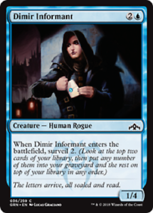 4x Dimir Informant PLAYSET - MINT - Guilds of Ravnica - Common - MTG - Magic