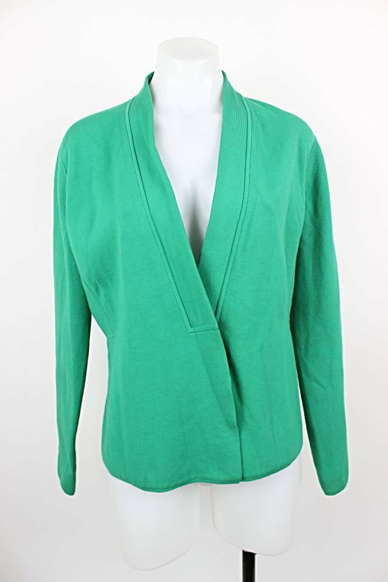 Carlisle Women Large Cardigan Snap Button Jersey Knit Long Sleeve