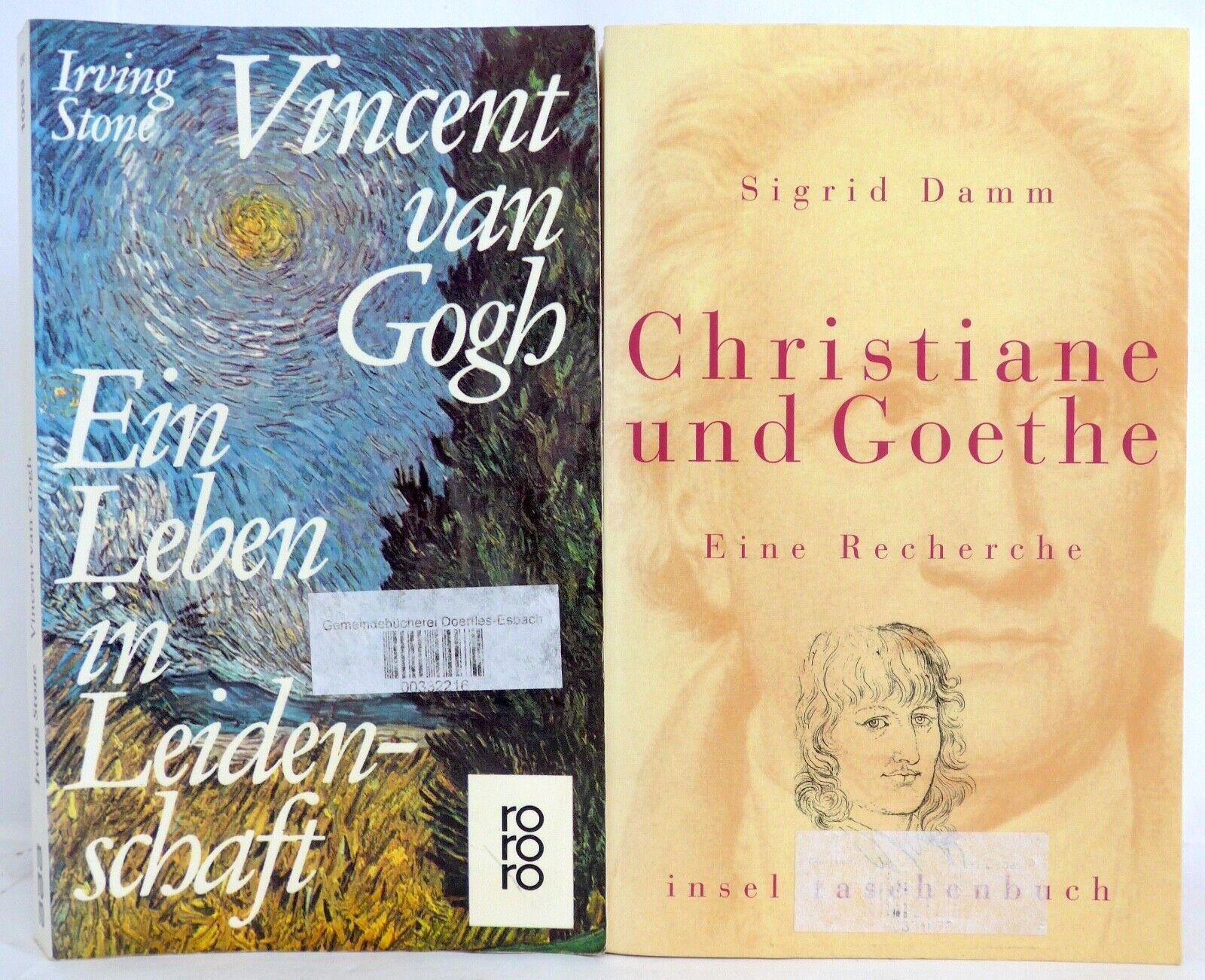 Vincent van Gogh, Irving Stone / Christiane und Goethe - eine Recherche