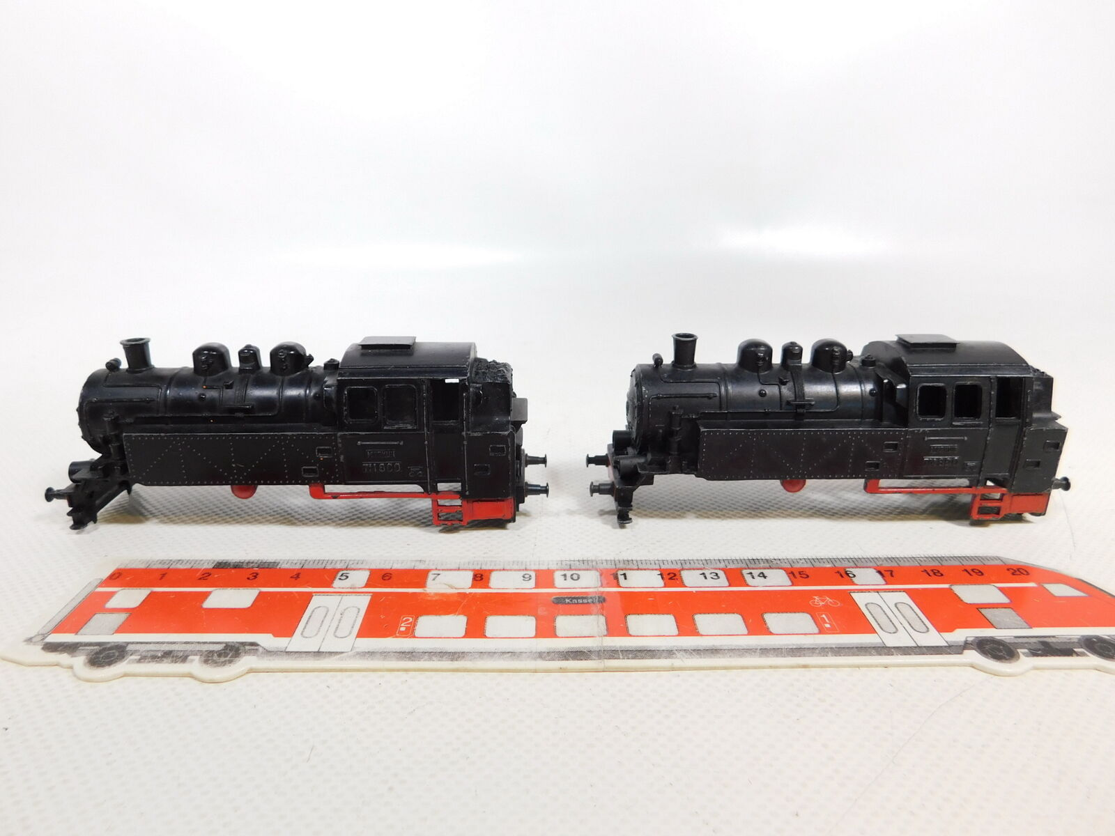 CE401-0,5  2x Märklin H0 00 Guss-Gehäuse für TM 800 Tenderlok, gebraucht