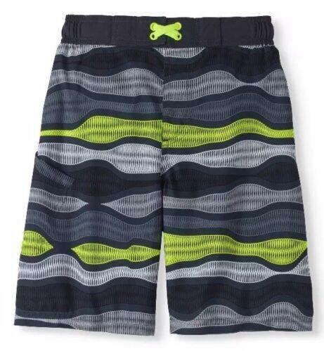 Wonder Nation Boys/' Swim Trunks Size 6-7  Greystone Waves