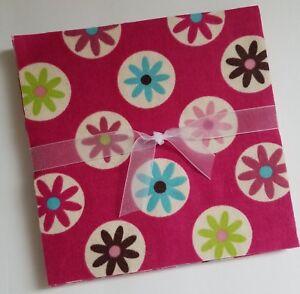 12-6-5-Flannel-Fabric-Pre-Cut-Quilt-Squares-Flower-Circles