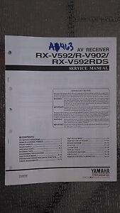yamaha rx v592 v592rds r v902 service manual original repair book av rh ebay com Yamaha YZF-R6 Yamaha XJR