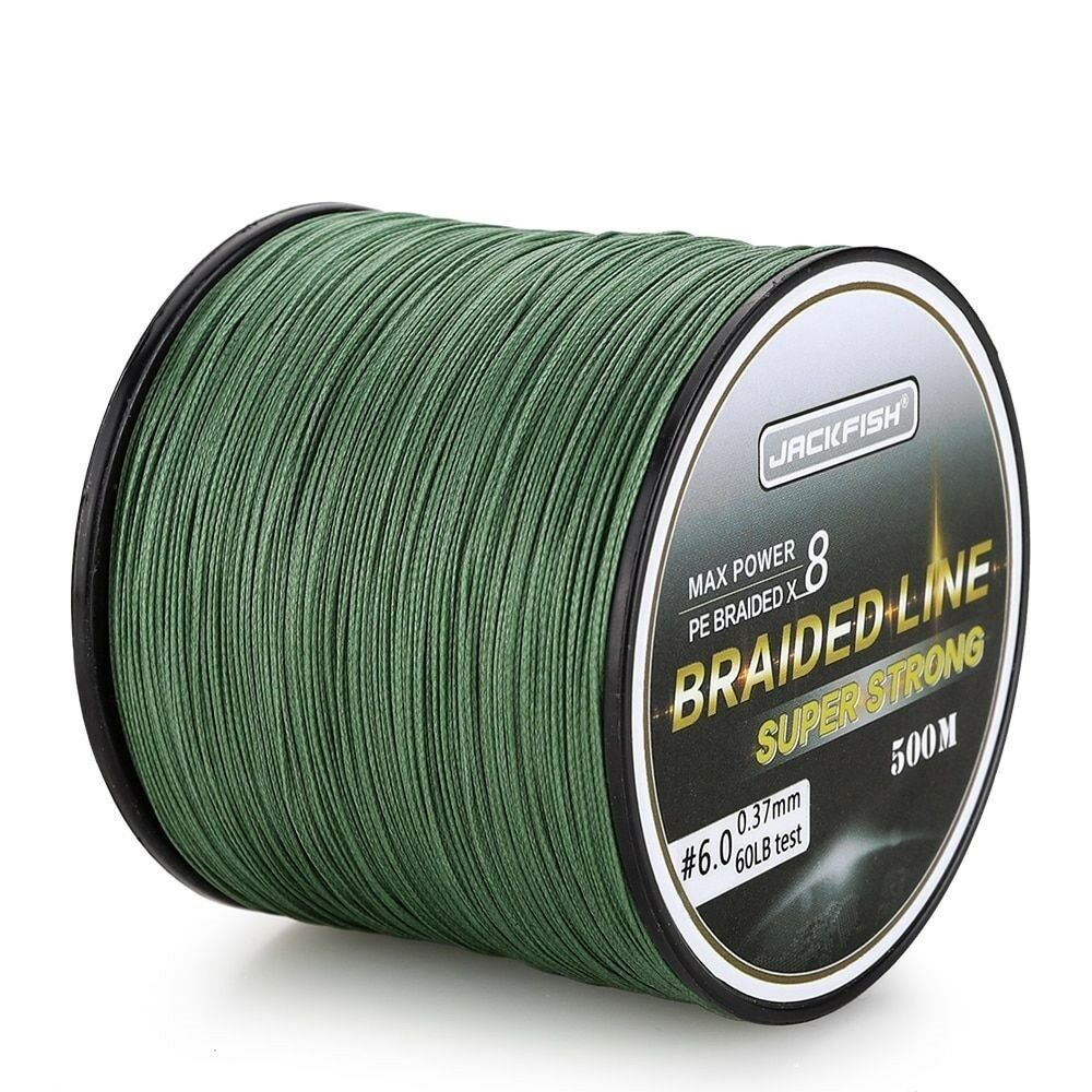 Multi Filament Fishing Line 500M 8 Strand Smoother PE Braided 10-80LB Carp