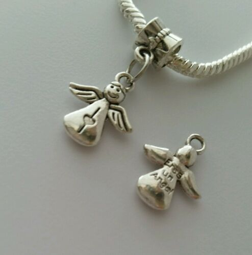 Angel Dangle Bead for Silver European Style Bracelets Necklace Or Clip On Charm