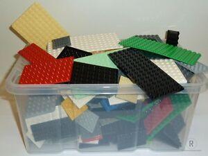 LEGO-30-Platten-Bauplatten-Konvolut-verschiedene-Farben-und-Groessen-kg-Plates