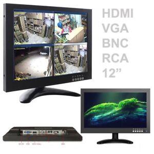 PDR-TV-TELEVISORE-MONITOR-LCD-12-039-039-POLLICI-TFT-VIDEOSORVEGLIANZA-VGA-BNC-HDMI-RCA