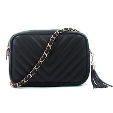 Item 2 Women Las Shoulder Quilted Handbag Gold Chain Faux Leather Cross Body Bag