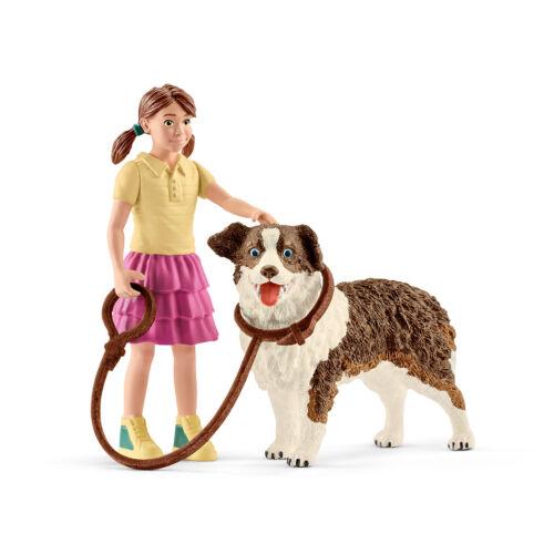 Farm Life Schleich 42376 Chien Kennel avec fille /& Australian Shepherd figures