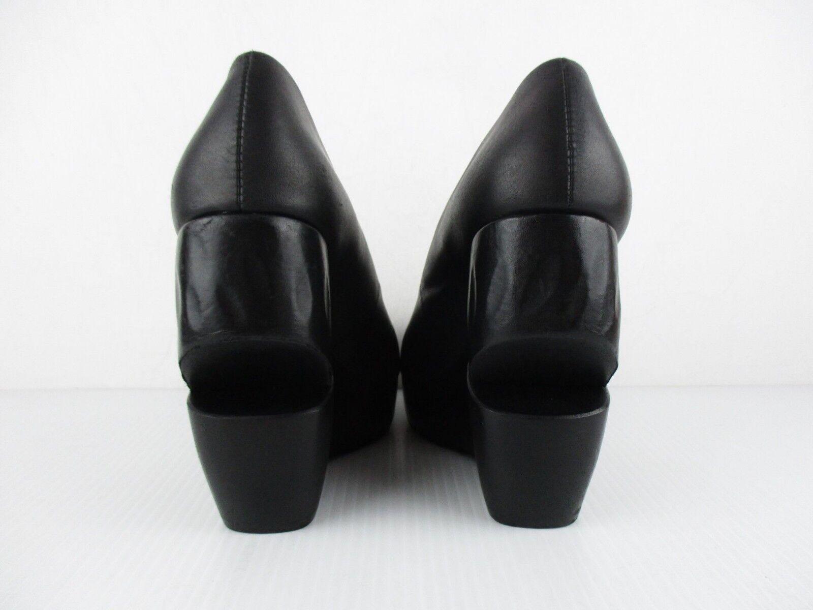STUNNING damen ALL SAINTS KALMAN SAVITR schwarz schwarz schwarz LEATHER WEDGE HEEL COURT 5 38 2557eb
