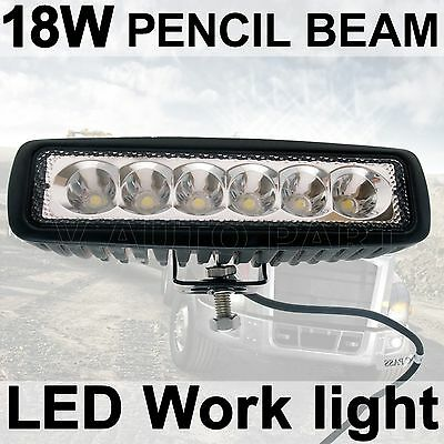 "6"" 18W LED Spot Pencil Work Driving Light bar Razor RZR Snowmobile Jeep 4WD"