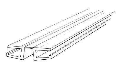 "1-1//2/"" x 6ft Flat Living Hinge Clear PVC"