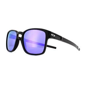 e3c06ec4fc Image is loading Oakley-Sunglasses-Latch-Square-OO9353-04-Black-Violet-
