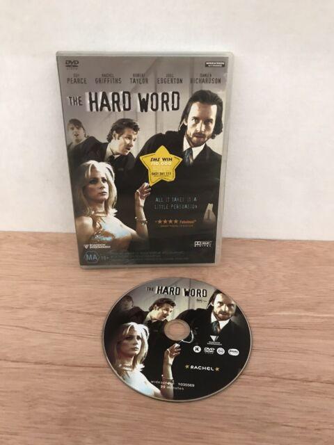 The Hard Word DVD Video Guy Pearce, Rachel Griffiths & Robert Taylor PAL R4