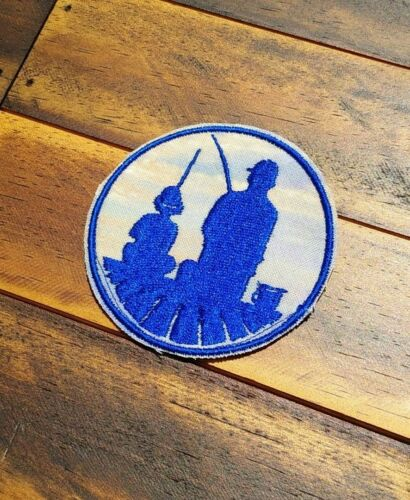 Patch Iron-On Family Fishing Dad and Son Fish Embroidered Embroidery
