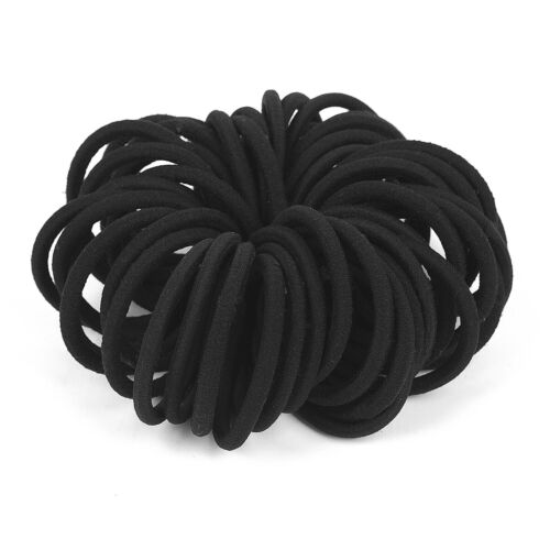 50pcsWomen Black Elastic Ponytail holder Hair Ties Band Ropes Ring Accessories S