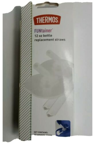 Thermos Replacement Straws 12 Oz Funtainer F400 Bottle Clear Lot Of 3 Boxes