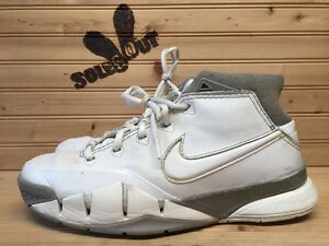 2006-Nike-Air-Zoom-Kobe-I-1-sz-6-5y-GS-White-Grey-313167-111