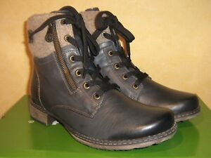 Dk Blue Ankle Rieker amp; Boot Lace Warm Winter Zip Up Remonte Leather 756E4wqH