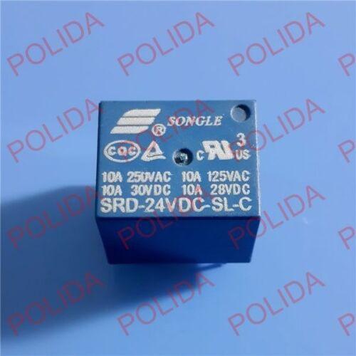 5PCS RELAY SONGLE DIP-5 SRD-24VDC-SL-C SRD-24V-SL-C DC24V DC24