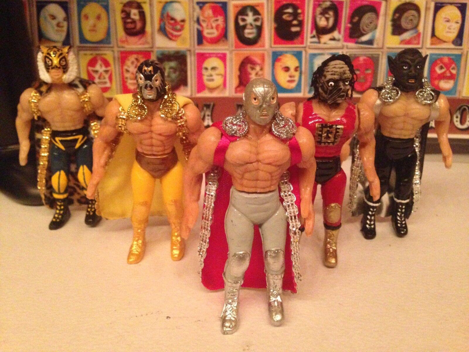 lucha libre film wrestling action figure personalizzate, sacco 5 di 5 sacco  12 cm ddc1a9