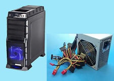 NEW LED Fan HotSwap SATA Gaming PC ATX Mid Tower Case, 2x PCIE 750W power supply