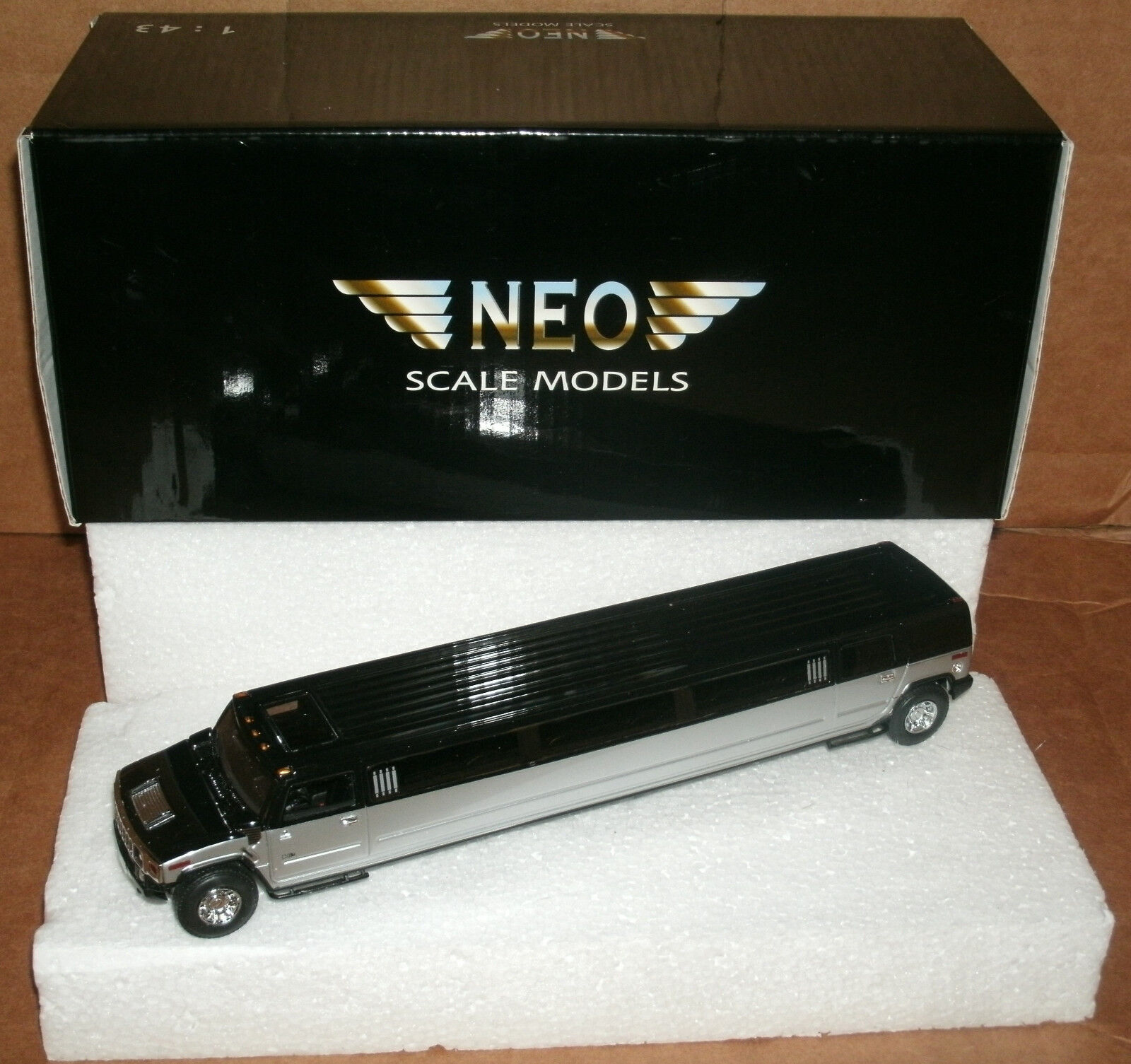 1 43 Scale Hummer H2 Limo Resin Replica Stretch Limousine Limousine Limousine Collectible NEO Model c5d2f2