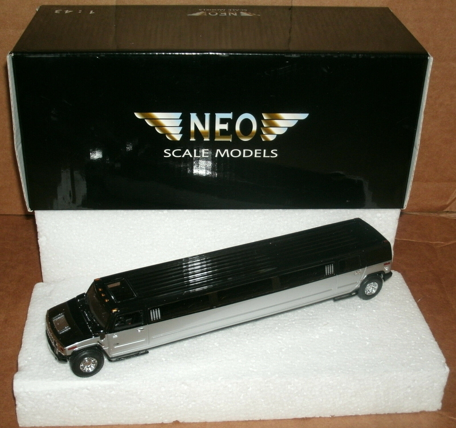 1/43 Scale Hummer H2 Limo Resin Replica Stretch Limousine Collectible NEO Model